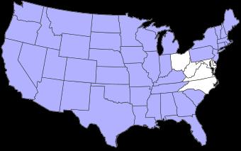 Bezochte staten